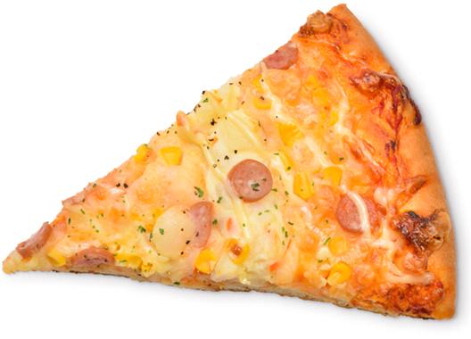 じゃがいもとソーセージのピザ